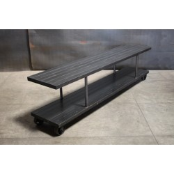 SLATTED STEEL LOW CONSOLE