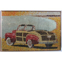 """46 FORD SPORT"" - RECYCLED CAN ARTWORK"