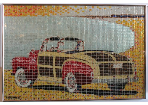 """""""46 FORD SPORT"""" - RECYCLED CAN ARTWORK"""
