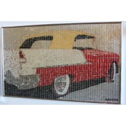 """55 CHEVY CONVERTABLE"" - RECYCLED CAN ARTWORK"