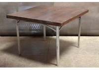 WOOD TOP / ALUMINUM BASE TABLE