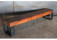 WOODEN BEAM BENCH