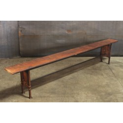 BENCH WITH BLEACHER-WOOD TOP