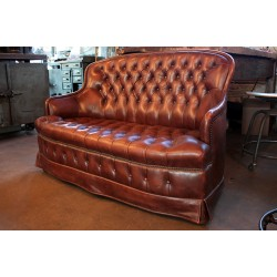 VINTAGE TUFTED LOVE SEAT