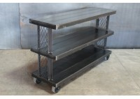 CONSOLE W/ WIRE FRAME SIDES