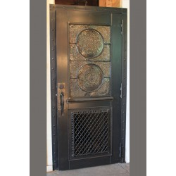 CUSTOM STEEL DOOR W/ RONDEL WINDOW