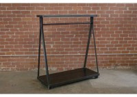 JASON WEIN STEEL CLOTHING RACK W/ TOP SHELF