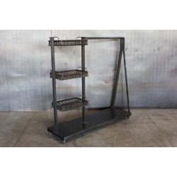 JASON WEIN CLOTHING RACK WITH BASKETS