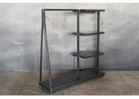 JASON WEIN CLOTHING RACK WITH SHELVES