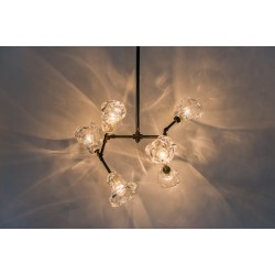 JASON WEIN GLASS SHADE CLUSTER LIGHT