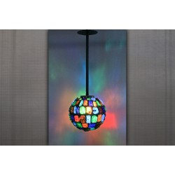 Multi-Colored Sphere Lamp