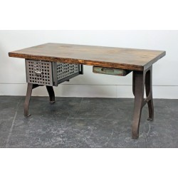 DESK W/ PERFORATED DRAWER