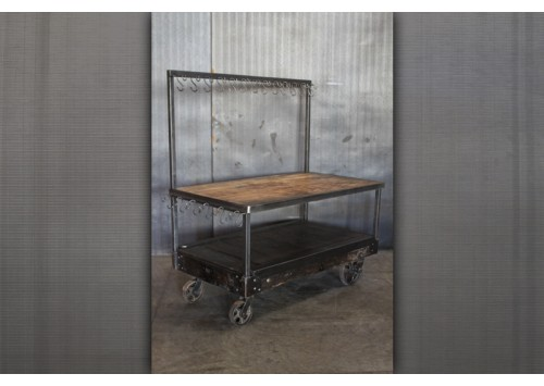 DISPLAY CART WITH HOOKS