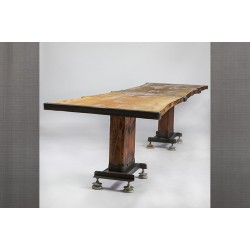 LIVE EDGE FRANKENSTEIN TABLE - BAR HEIGHT