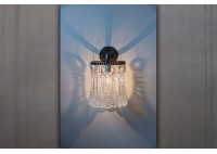 JASON WEIN CRYSTAL SCONCE - ROUND BACKPLATE