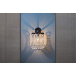 JASON WEIN FLAT CRYSTAL SCONCE - ROUND BACKPLATE