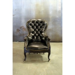 EMPIRE ROSEWOOD LEATHER CHAIR