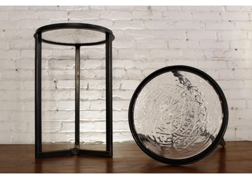 RONDEL GLASS SIDE TABLE