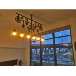 CUSTOM COOPER RIVER PULLEY CHANDELIER