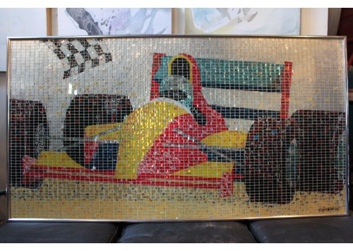 """NO LIMIT"" RACING CAR - RECYCLED CAN ARTWORK"