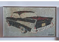 """""""57' CHEVY"""" RECYCLED CAN ARTWORK"""