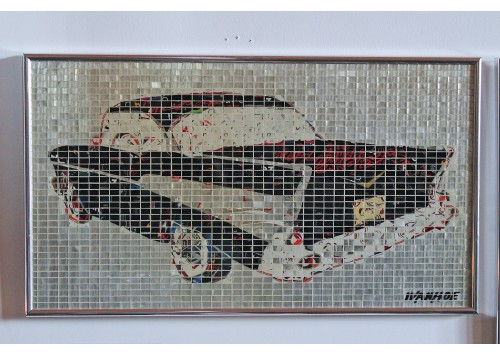 """57' CHEVY"" RECYCLED CAN ARTWORK"
