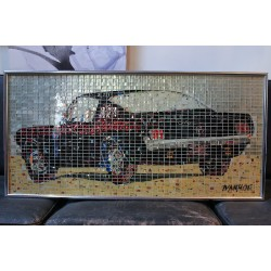 """65 MUSTANG"" - RECYCLED CAN ARTWORK"