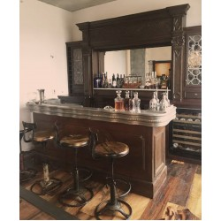 VINTAGE BAR AND CUSTOM STOOLS