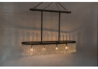 JASON WEIN OVAL CRYSTAL CHANDELIER - LARGE