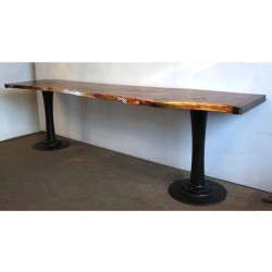 LIVE EDGE PEDESTAL TABLE