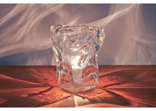 LARGE HAND BLOWN ICE CUBE TABLE LIGHTS