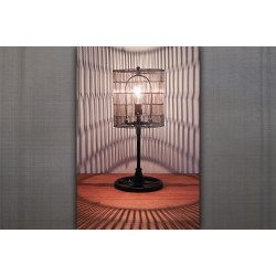 WIRE SHADE TABLE LAMP