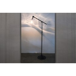 HAND BLOWN GLASS FLOOR LAMP