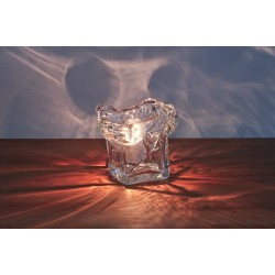 HAND BLOWN ICE CUBE TABLE LIGHT