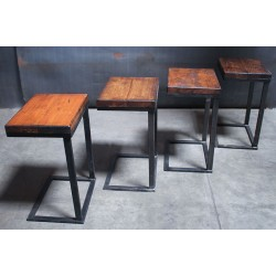 OAK TOP SIDE TABLES