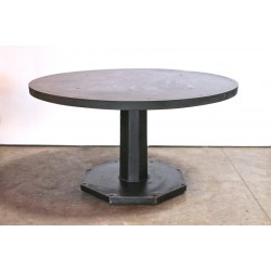OCTAGON PEDESTAL TABLE - STEEL TOP