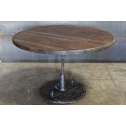 ROUND TABLE W/ PUNCH PRESS BASE