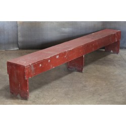 20.  WOOD BENCH - RED