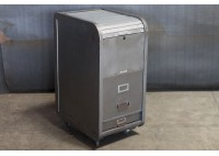 METAL ROLL TOP FILE CABINET