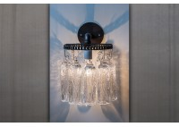 JASON WEIN TREE BARK CRYSTAL SCONCE - ROUND BACKPLATE