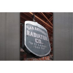 METAL SAN ANTONIO RADIATOR SIGN