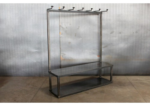 JASON WEIN STEEL CLOTHING RACK W/ BENCH