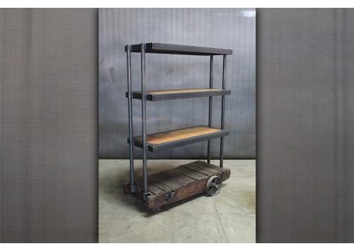 SMALL FACTORY CART SHELF UNIT