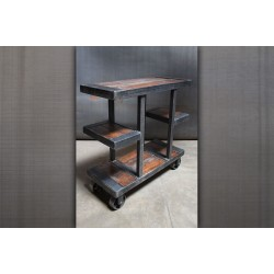 JASON WEIN SMALL WOOD AND STEEL CREDENZA