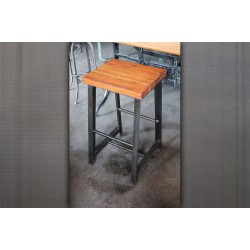 RECLAIMED WOOD & STEEL STOOL