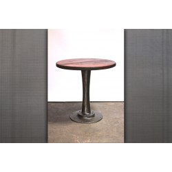 BAR HEIGHT PEDESTAL TABLE - WOOD TOP