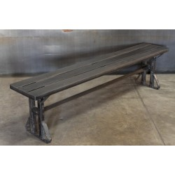 STEEL BENCH WITH DRUM STACKED LEGS