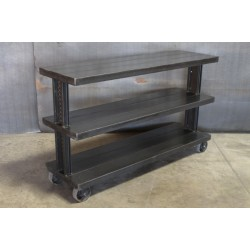 STEEL CONSOLE WITH 3 SHELVES