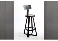 ANGLE PUB STOOL WITH BACK