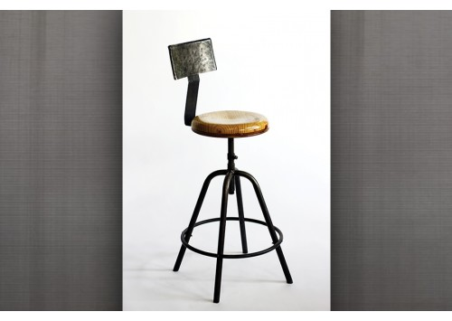 POST PUB STOOL WITH BACK